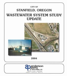 Stanfield Wastewater System Study Update 2004